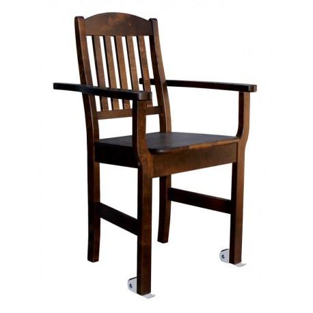 Siiri tuoli pyörillä ja työntökahvoilla.