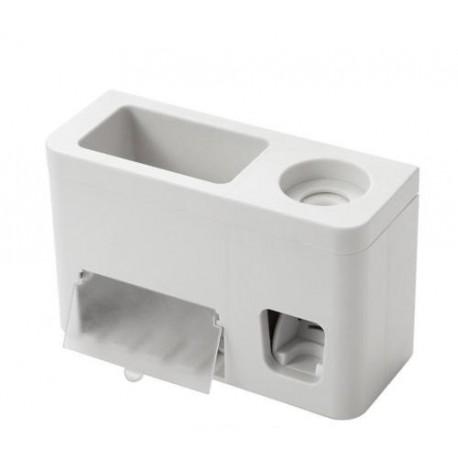 Automaattinen hammastahnan puristin seinälle harjatelineellä